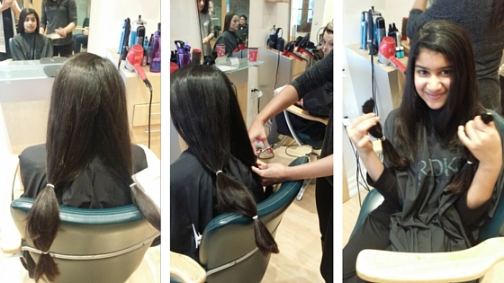 Anjani cuts 9 inches of her hair to donate to cancer patients.